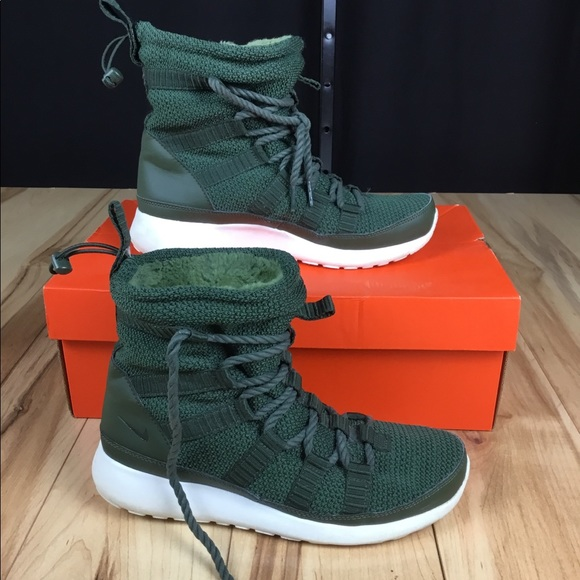 Nike Roshe Run High Tops Boots Carbon